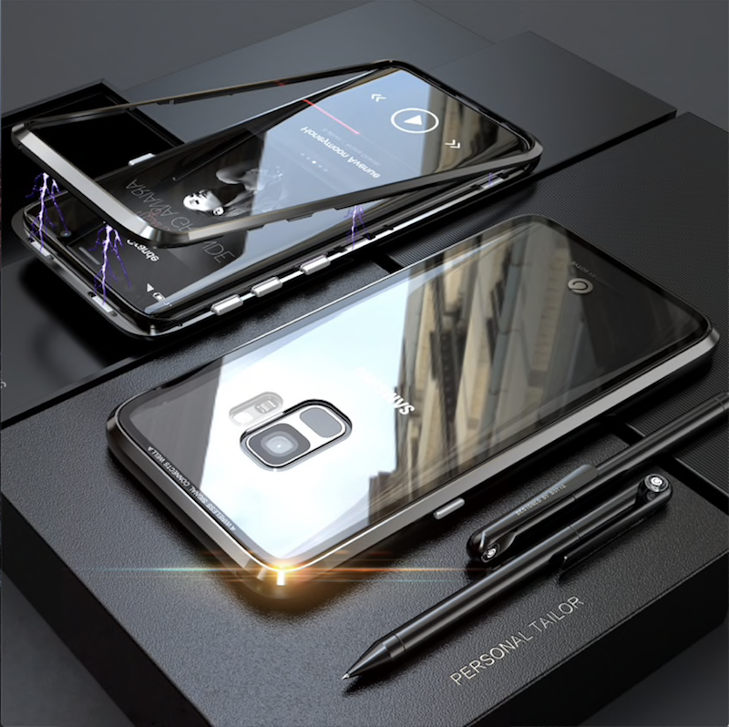 h lle samsung galaxy s8 s9 plus 360 magnet glas case. Black Bedroom Furniture Sets. Home Design Ideas