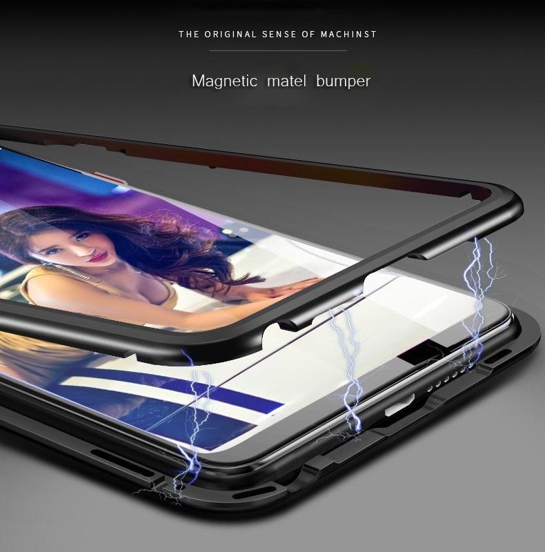 h lle samsung galaxy s8 s9 plus 360 magnet glas case handy tasche schutzh lle ebay. Black Bedroom Furniture Sets. Home Design Ideas